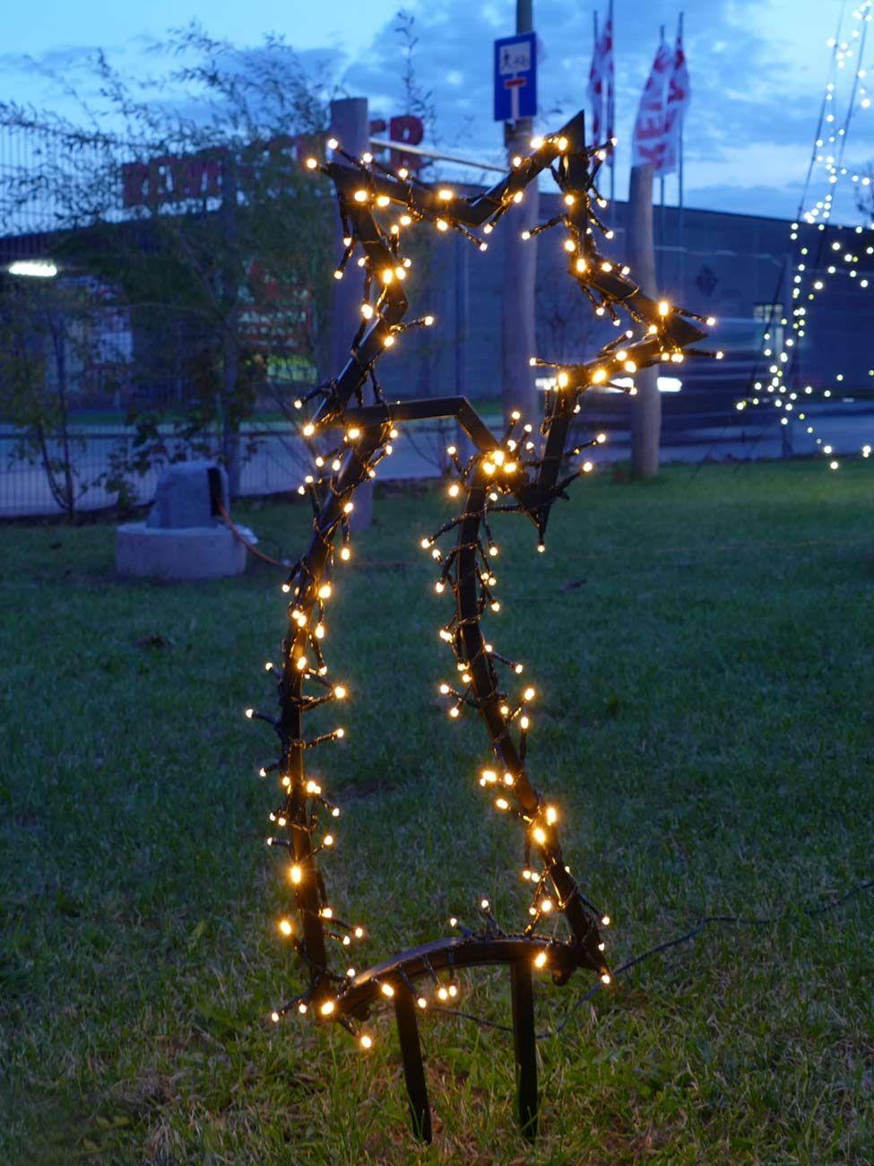 Weihnachtsbeleuchtung Figuren Led.Gartenmotive Stern Komet Weihnachtsbeleuchtung Figur Aus