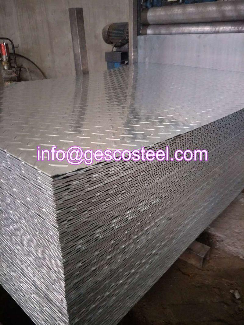 Galvanized Checkered Steel Plate Galvanized Steel Sheet Galvanized Steel Galvanized Roofing