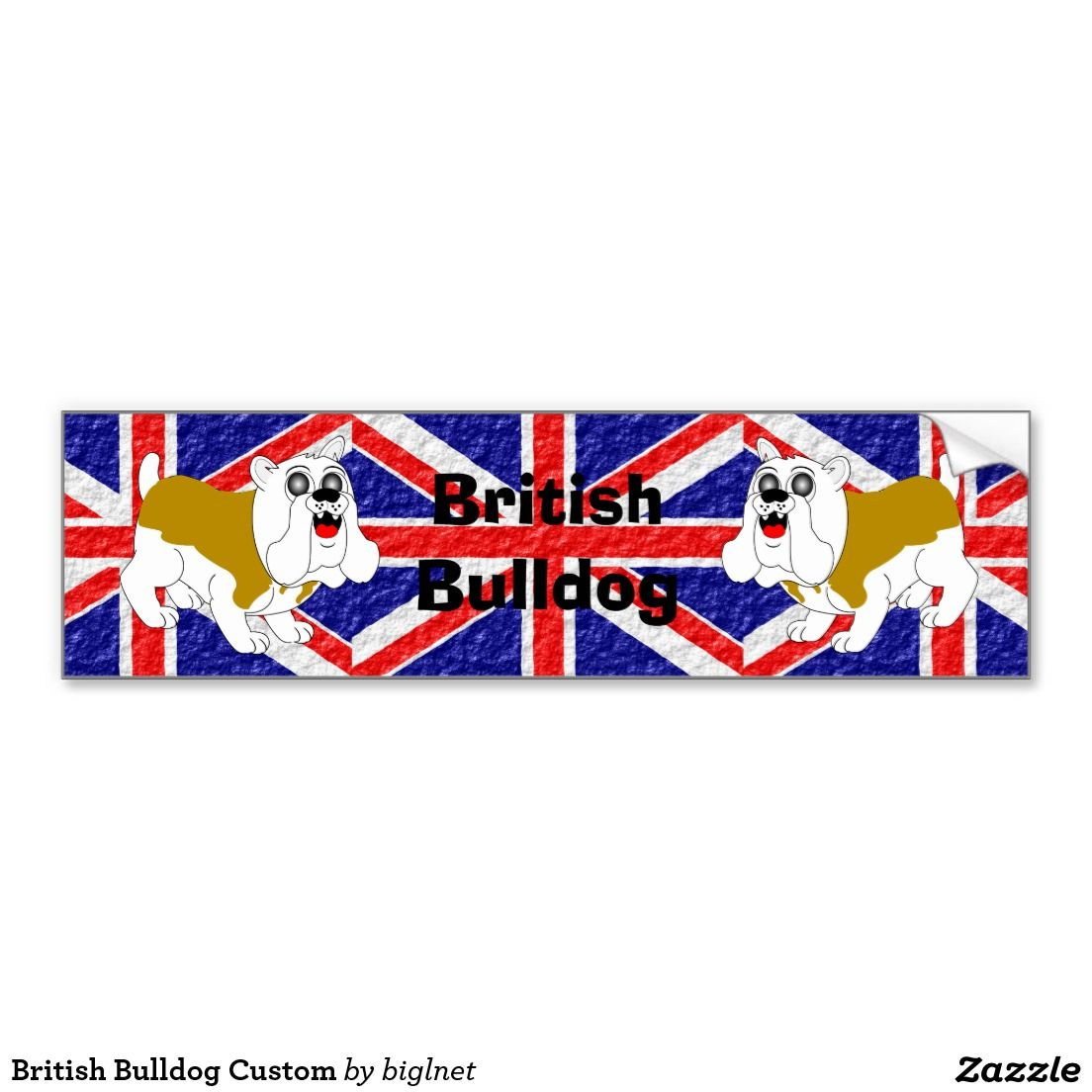 British Bulldog Custom Car Bumper Sticker Dogs Pinterest Car - Custom car bumper stickers