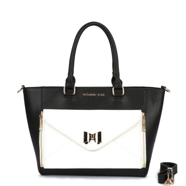 Alexander Black Nolita Monochrome Shoulder Bag