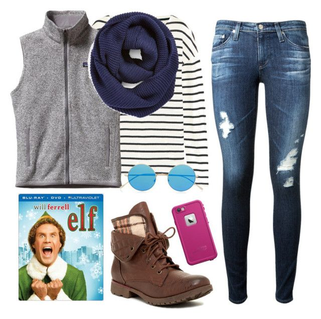 """""""Falling for Will Ferrell!!!"""" by kaitlynbug1226 ❤ liked on Polyvore featuring J.Crew, Patagonia, BP., AG Adriano Goldschmied, Rock & Candy, Illesteva and LifeProof"""