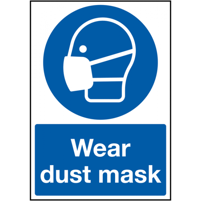 Wear Dust Mask Mandatory Safety Signs Illustrator cs5