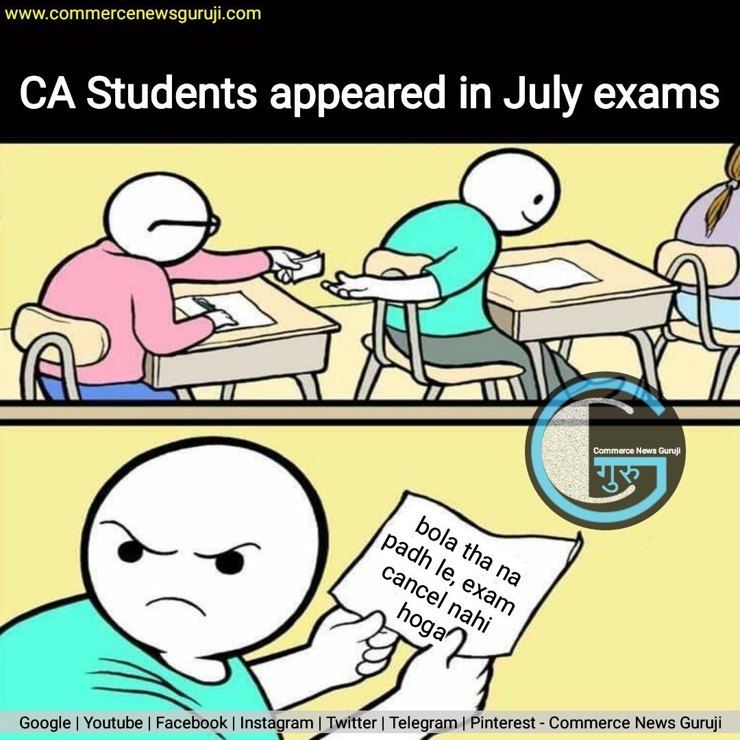 Meanwhile Ca Students In July 2020 Exams Edgy Memes Jokes In Hindi Funny Memes