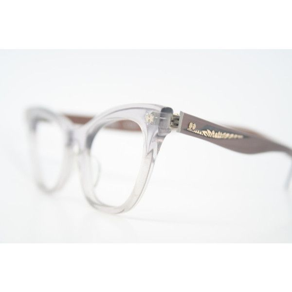 Victory cat eye glasses Grey and Brown authentic vintage eye...