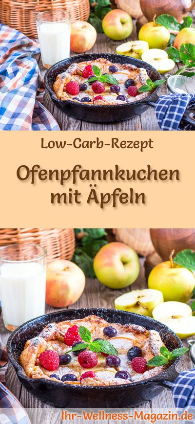 Low carb oven pancakes with apple – healthy recipe for breakfast