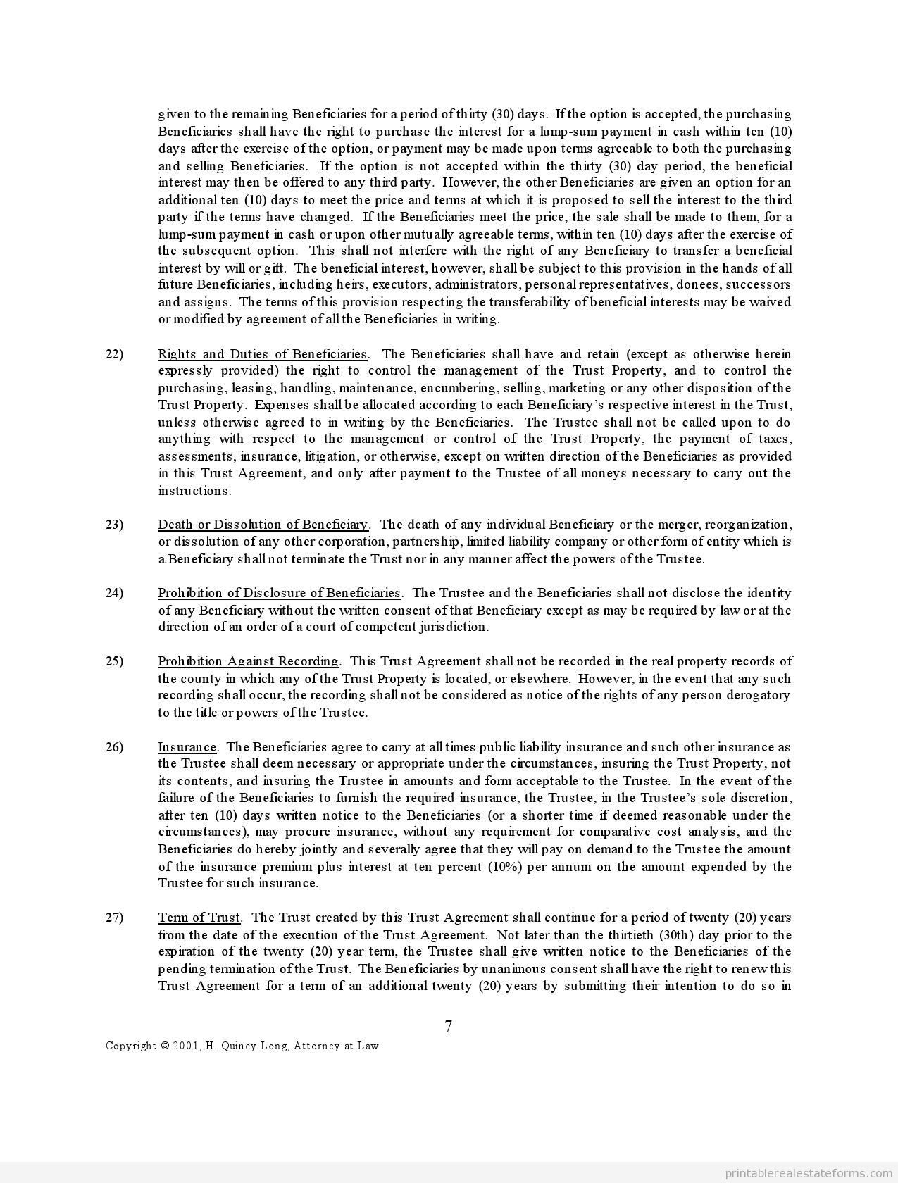Free Trustagreement Form Printable Real Estate Forms Legal Forms Real Estate Forms Real Estate Templates