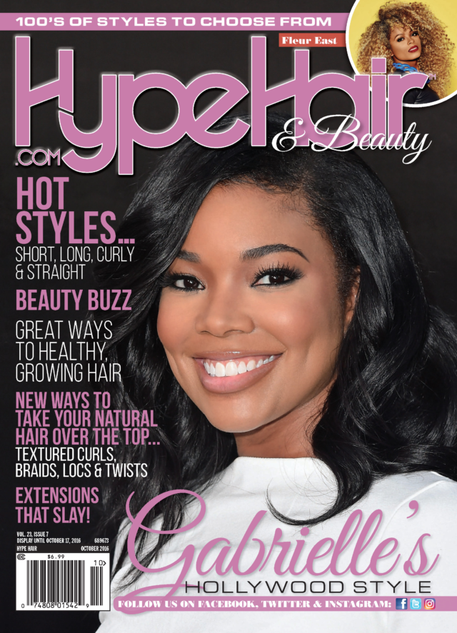 Gabrielle Union covers Hype Hair\'s October 2016 issue | Hype Hair ...