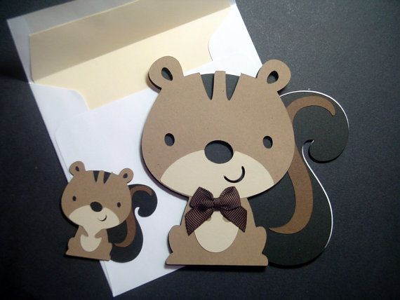 Squirrel Card  Brown Squirrel  Squirrel Shaped by BethiesCards, $6.75