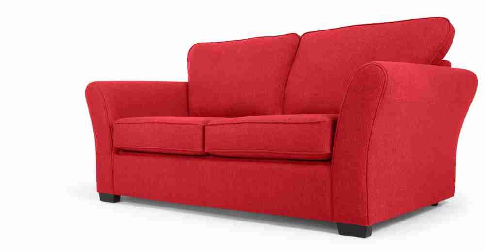 Red 2 Seater Sofa | two seater sofa | Sofa bed red, Sofa bed ...