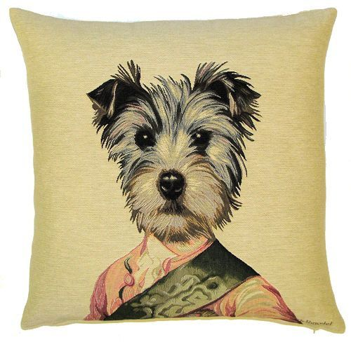 Schnauzer Pillow Cover Schnauzer Gift 18x18 Belgian Etsy In 2021 Tapestry Cushion Tapestry Pillow Schnauzer Gifts