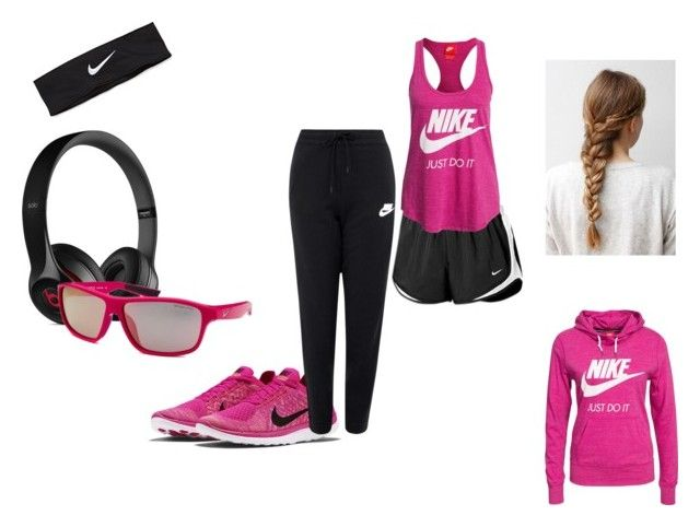 """""""Avery Holster: Morning Run"""" by porclein-unruh ❤ liked on Polyvore featuring Beats by Dr. Dre and NIKE"""