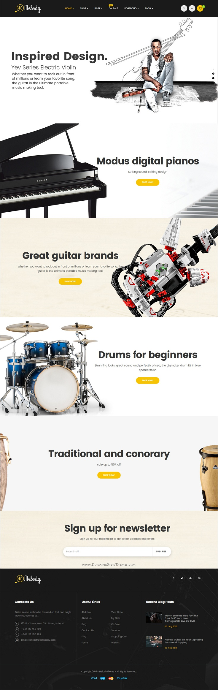 Melody is a clean and elegant design responsive #WordPress theme for #webdev musical #instruments, music, band and clubs website download now➩   https://themeforest.net/item/melody-wordpress-theme-for-musical-instruments-music-bandclub/18730814?ref=Datasata