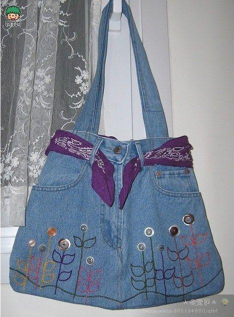 Te muestro ideas e inspiración para reciclar pantalones vaqueros haciendo  maravillosos bolsos. Pon en marcha tu creatividad con estos maravillosos  bolsos y ... d61de3e11815