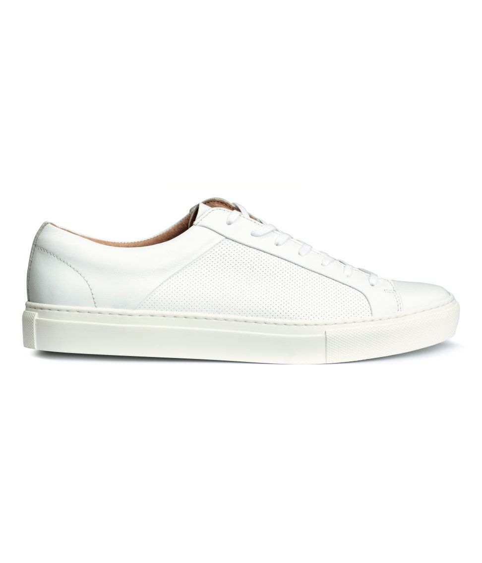 Sneakers in leather | H&M Men's Classics | Mens fashion
