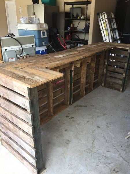 Make for patio garage bar finalized plans for house for Diy wood bar