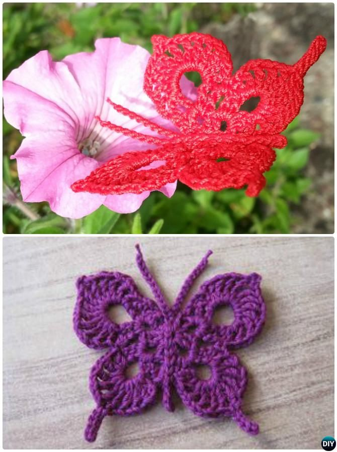 Crochet Swallow-Tailed Butterfly Free Pattern | Christmas ...