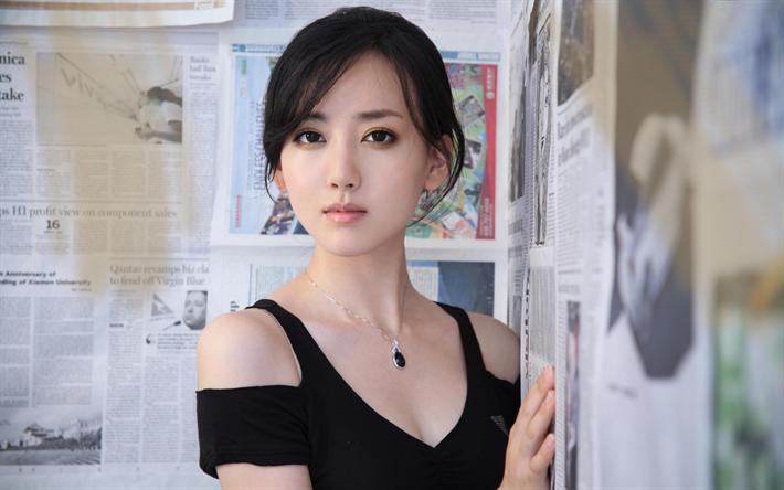 Lataa kuva Tian Jing, kiinan näyttelijä, kauneus, aasian tytöt, ruskeaverikkö