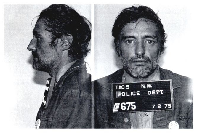 Actor Dennis Hooper was arrested by New Mexico police in July 1975