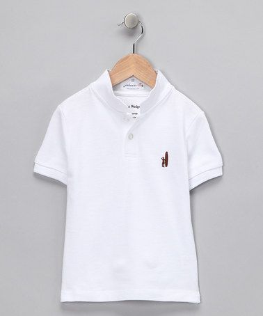 Take a look at this White Wedge-Collar Polo - Toddler & Boys by Preppy Picks: Boys' Apparel on #zulily today!