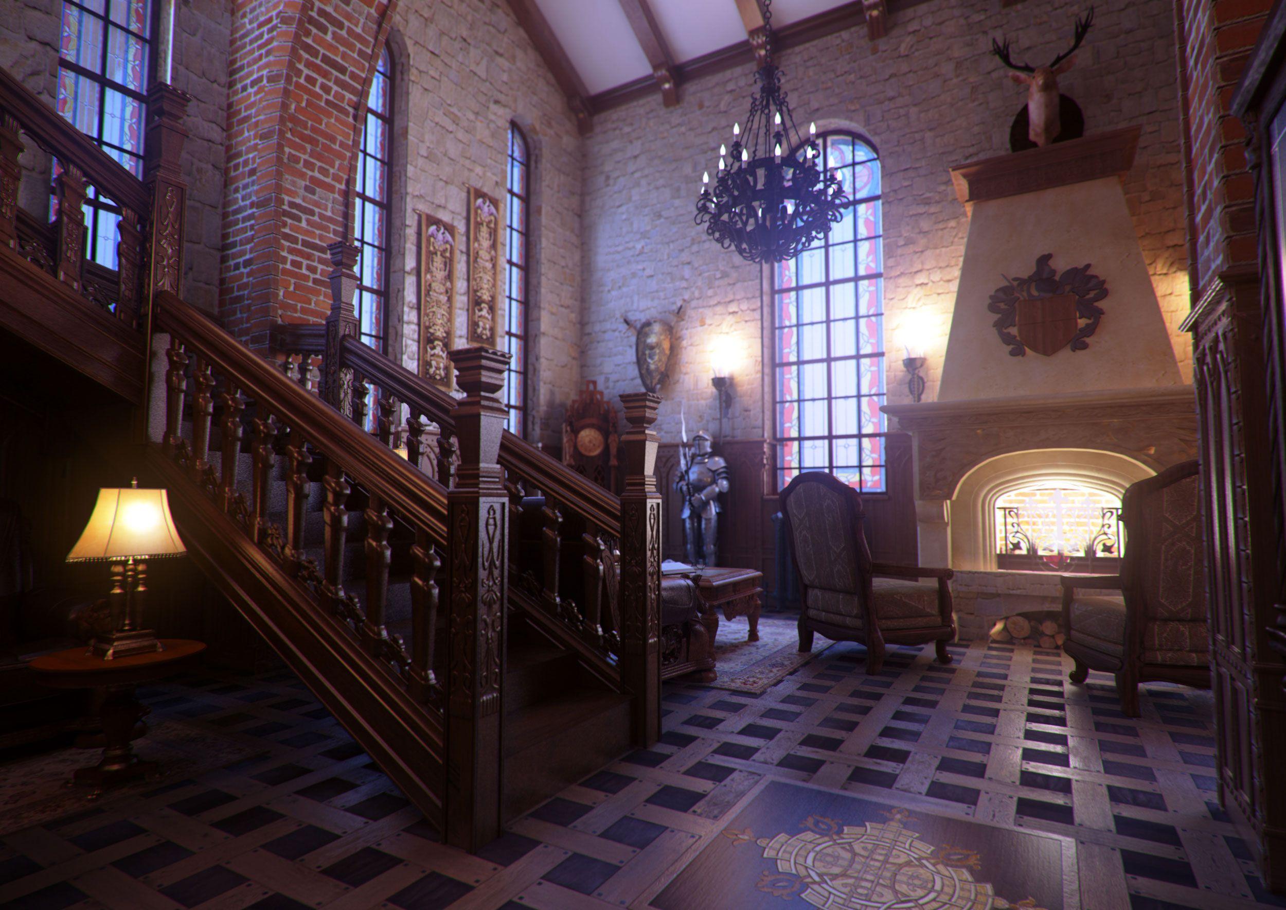 Dark Victorian Bedroom gothic interiors | interior rendering / gothic interior design