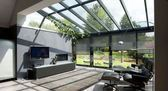 Conservatory extension and roof Modern extension with wooden floor. By Tamara Ein  – Dachgarten
