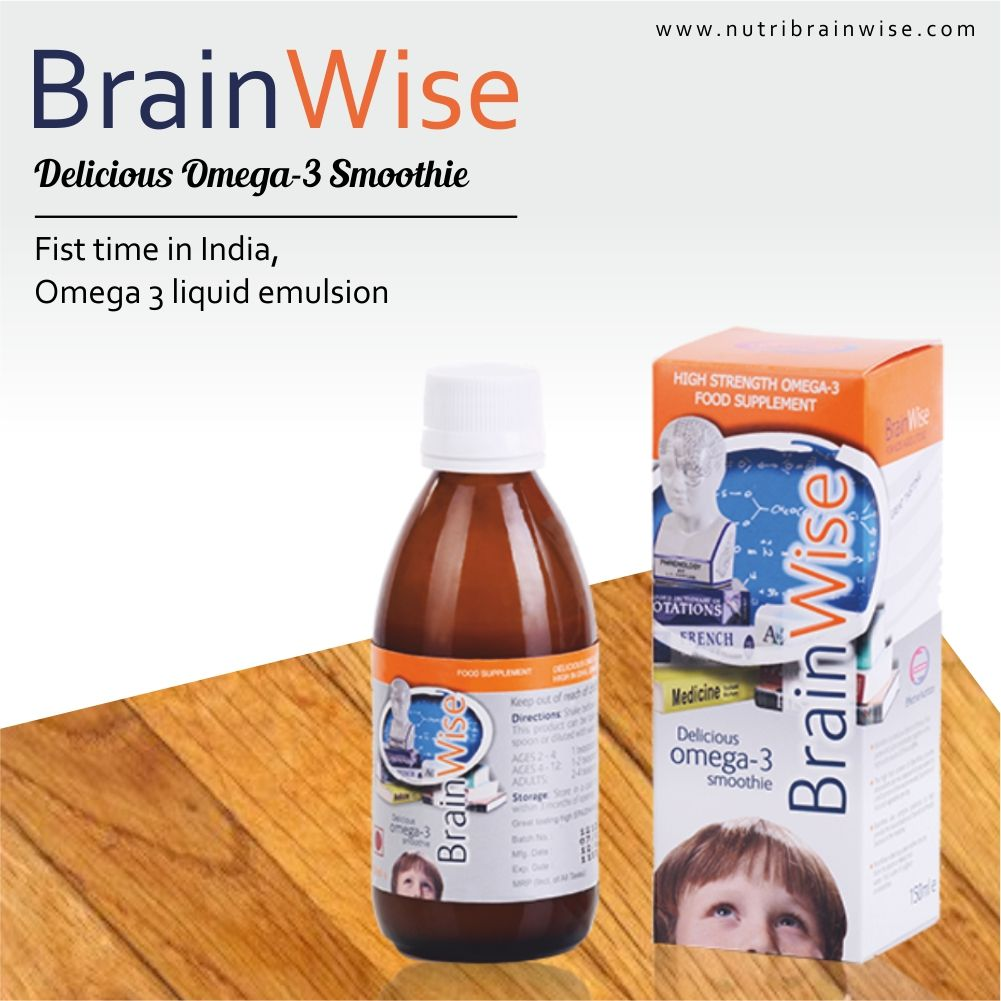 First Time In India Omega 3 Liquid Emulsion Brainwise Delicious