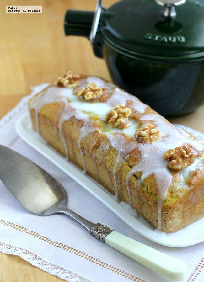 Bizcocho De Aguacate Con Glaseado De Yogur Y Nueces Una Receta Saludable Para Desayunar O Merendar Receta Recetas Con Nueces Bizcocho Tartas