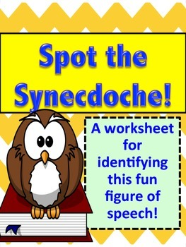 figurative language practice synecdoches educate pinterest