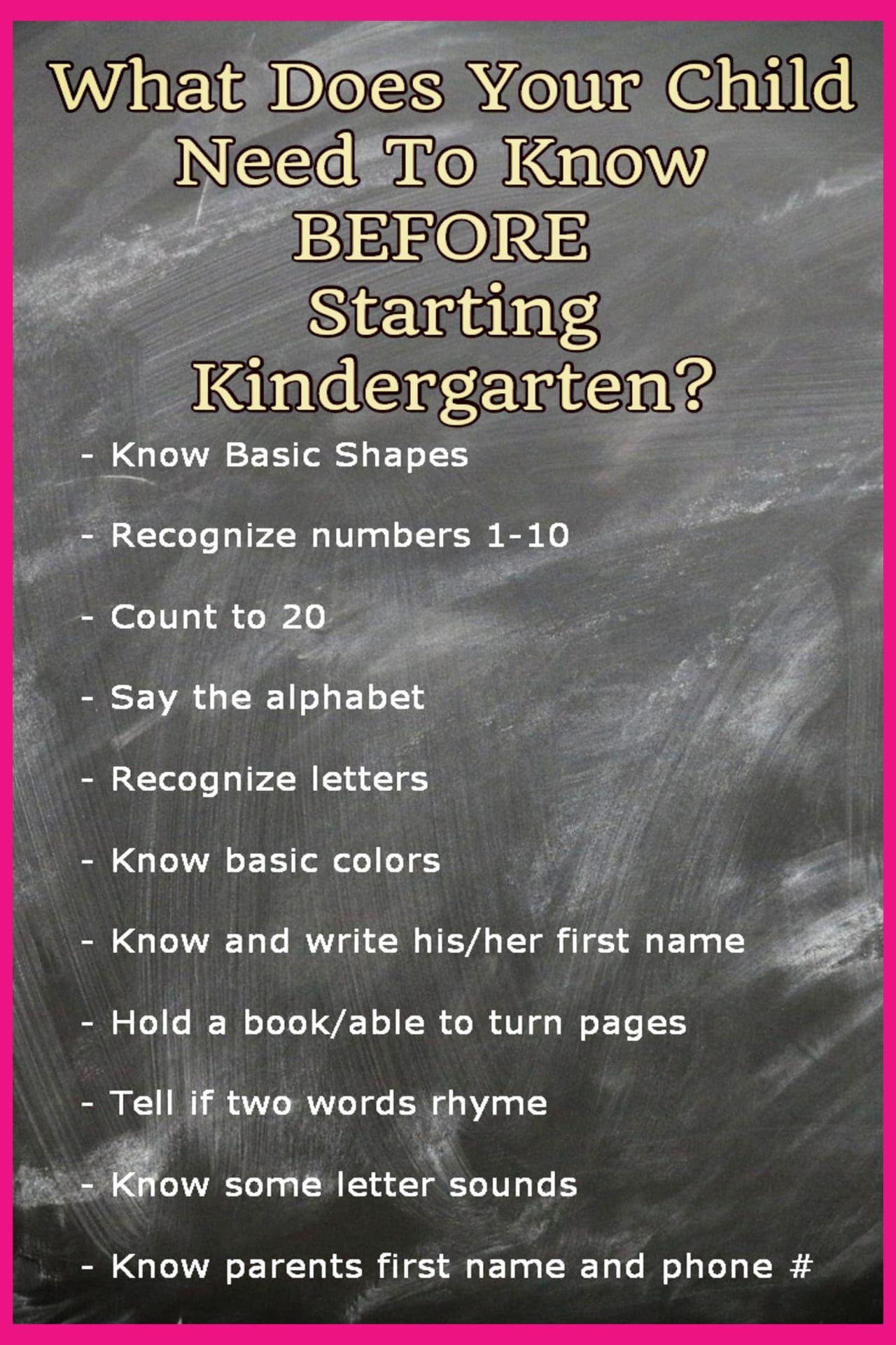 Kindergarten Readiness Checklists