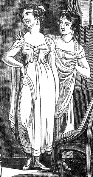 5e66f6d42 1811 illustration of Regency-underclothes detail - 1795–1820 in ...