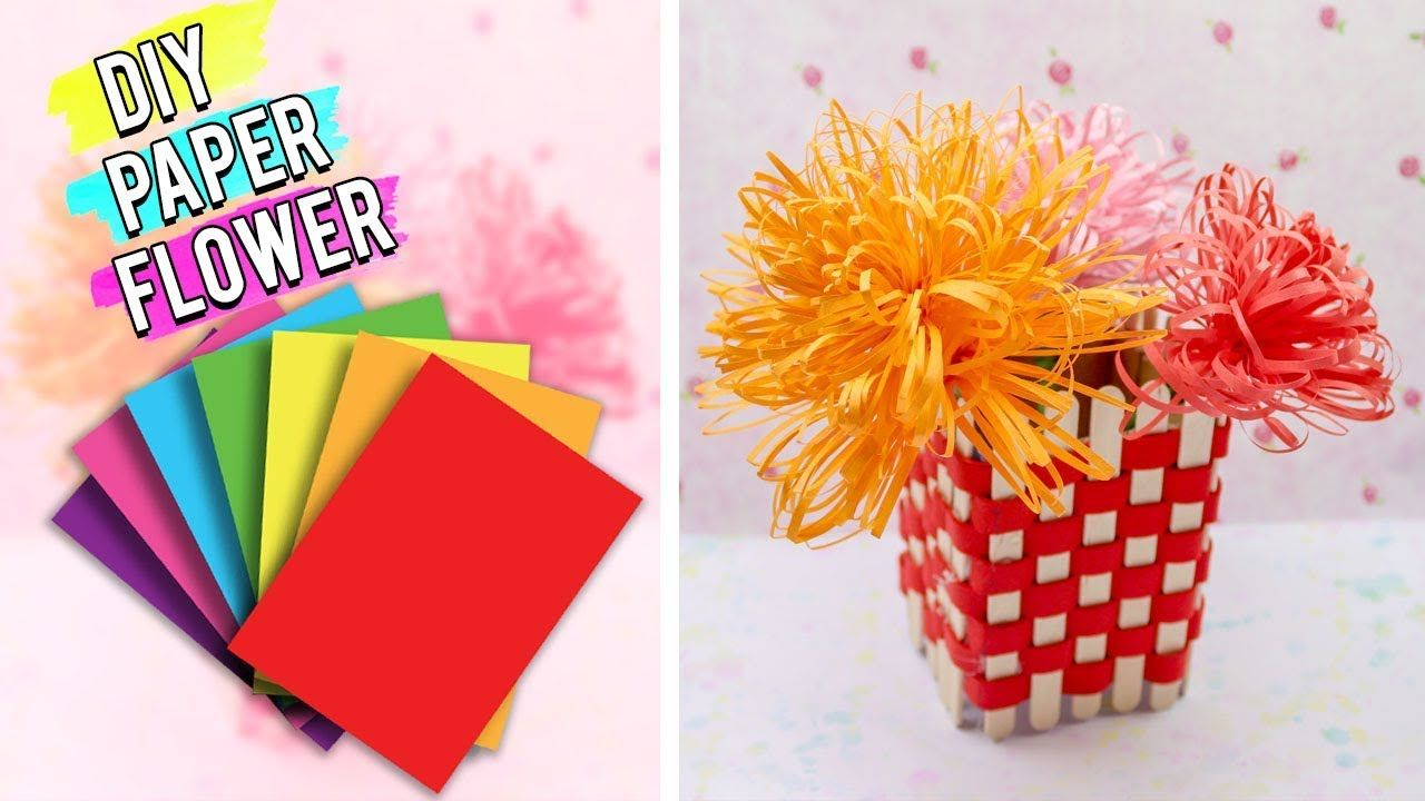 Diy Paper Flower Art And Craft Ideas Easy 5 Minutes Diy Craft