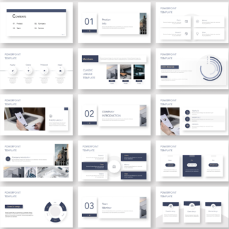 Clean Magazine Style Business Presentation Template – Original and High Quality PowerPoint Templates