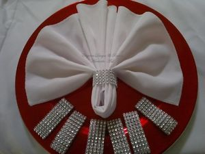 100 Rhinestone Bling Napkin Rings Wedding Baby Shower Party