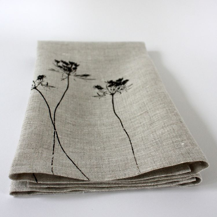 Image of oatmeal queen anne's lace towel