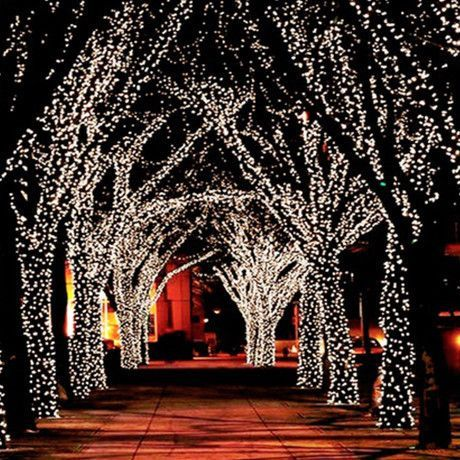 17 meter string of 100 led solar powered fairy lights - Solar Powered Outdoor Christmas Lights