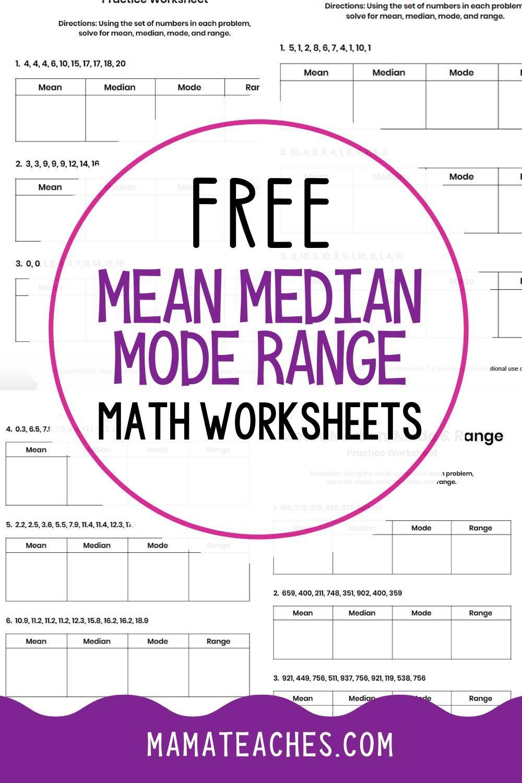 Mean Median Mode Range Worksheets Free Printables Mean Median And Mode Elementary Worksheets Free Math Worksheets [ 1500 x 1000 Pixel ]