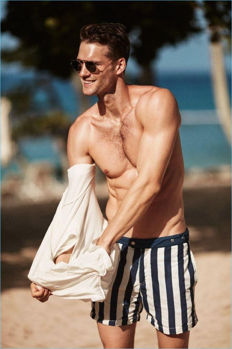 4a024743daf15 Tomas Skoloudik Takes to the Beach with Solid & Striped | Men's ...
