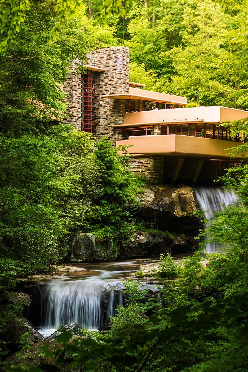 fallingwater kaufman residence 1936 39 bear run creek in mill run pennsylvania frank. Black Bedroom Furniture Sets. Home Design Ideas