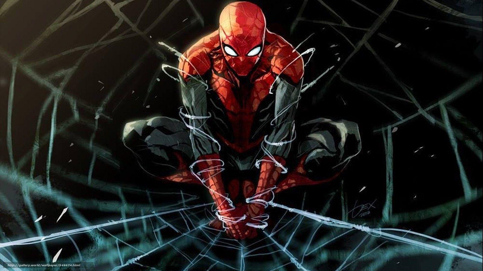 Tlcharger fond d 39 ecran spider man bande dessin e dessin - Dessin anime spider man ...