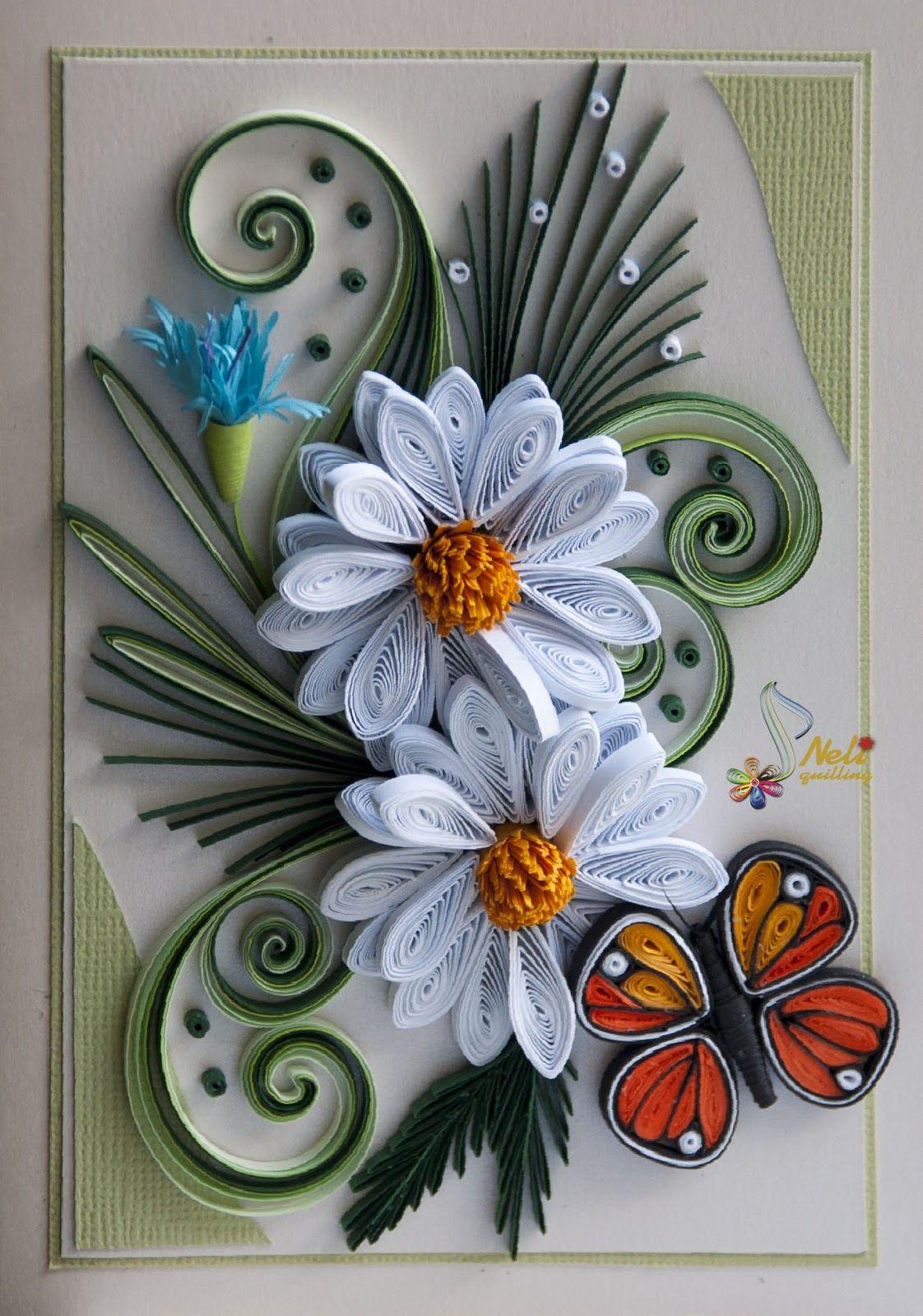 Красивые открытки с квиллинга, любимой доченьке