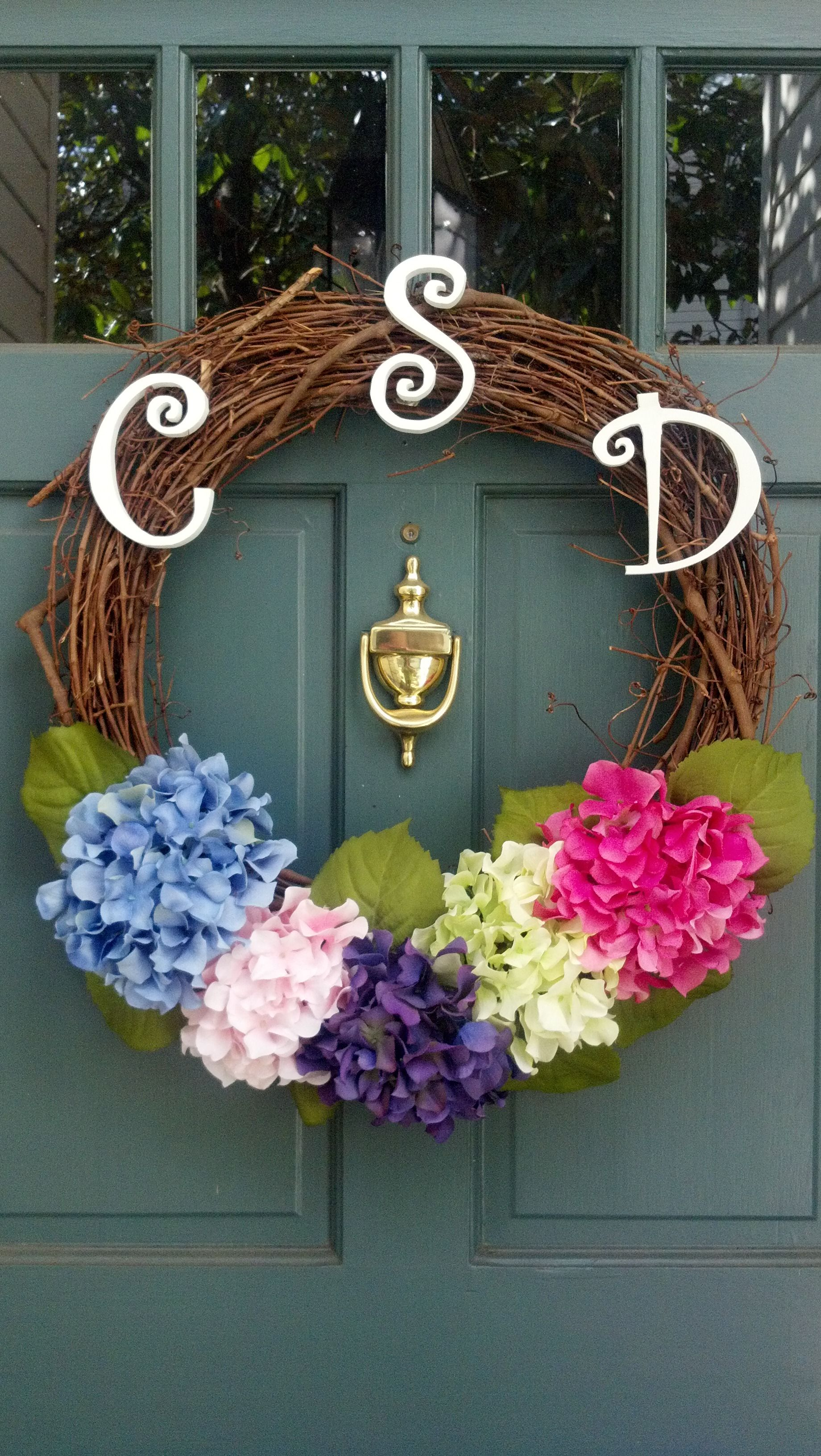 DIY Monogram Wreath... all supplies bought at Michael's