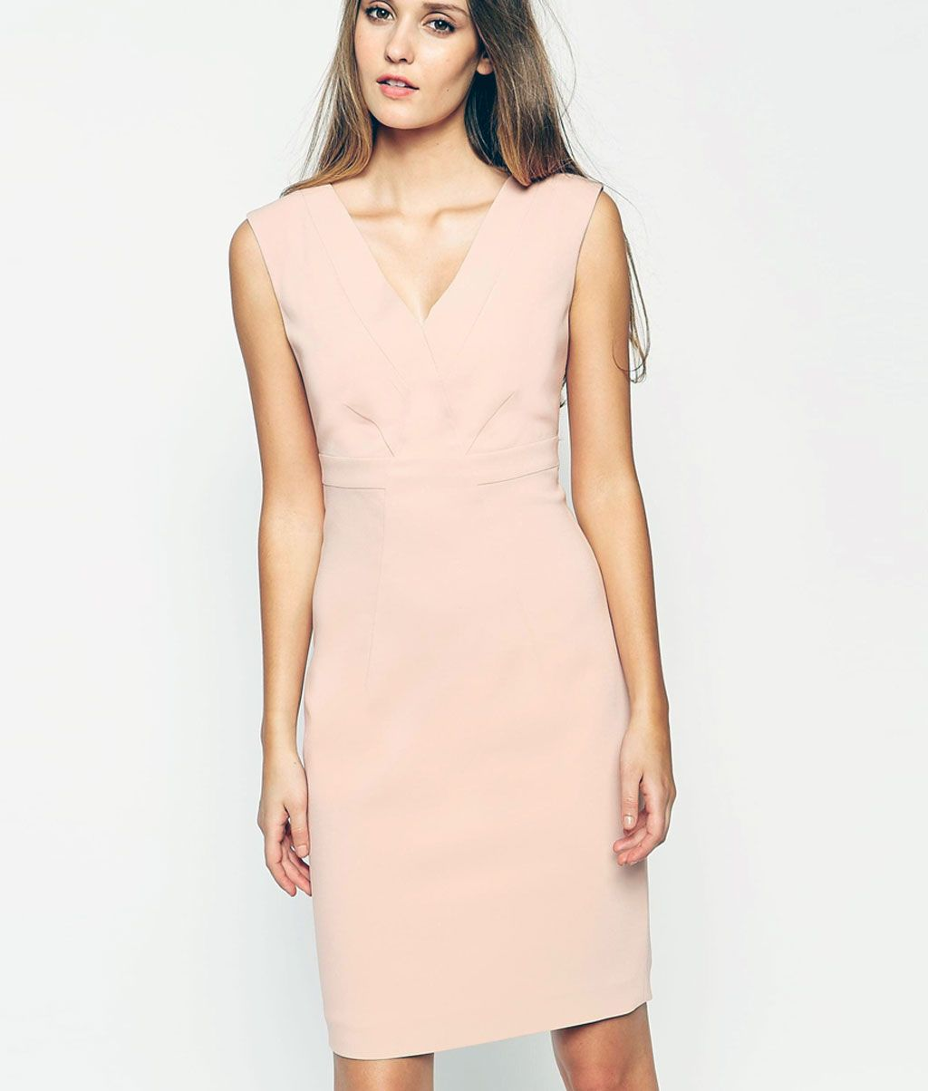 1ff106913e8b8 pudra rengi kalem elbise modelleri | elbisemodelleri-sitesi.com ...