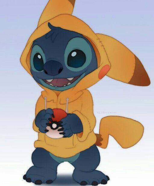 Stitch As Pikachu Wallpaper De Desenhos Animados Desenhos Kawaii Lilo Stich