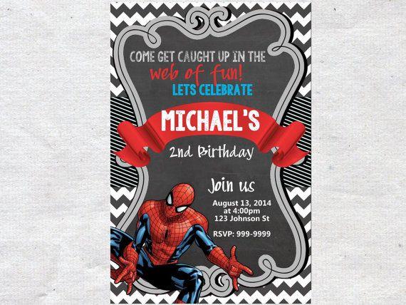 Free Printable Spiderman Birthday Invitation Templates Hair