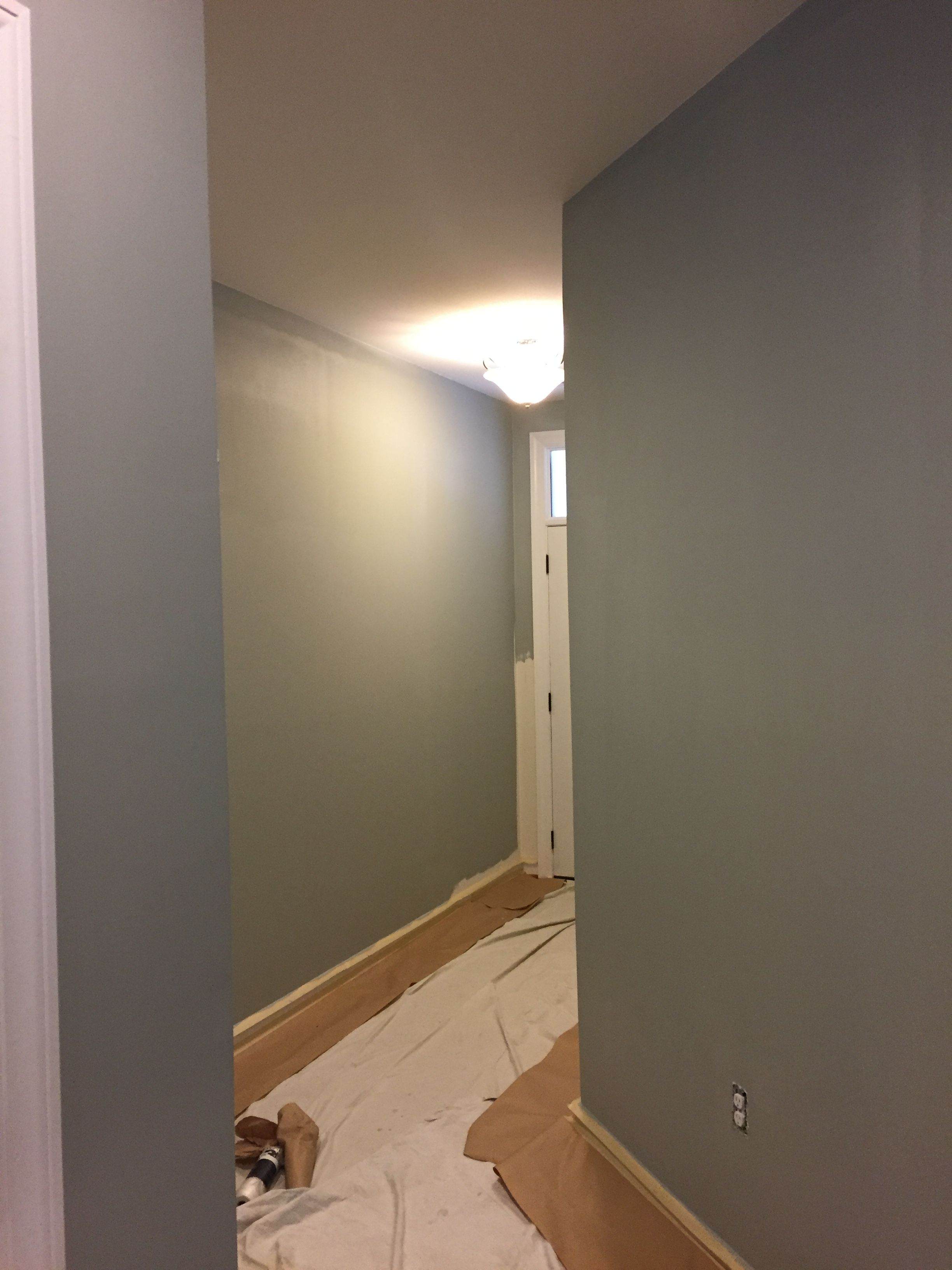 Nursery  Sherwin Williams Magnetic Gray - Model Home Projects