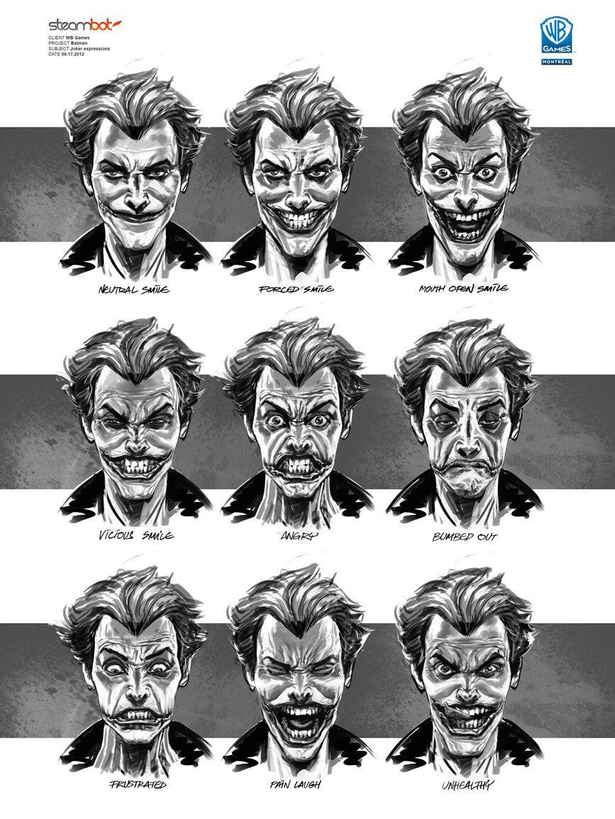 Batman Arkham City Joker Concept Art