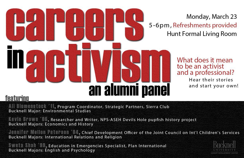 Careers in activism environmental studies career