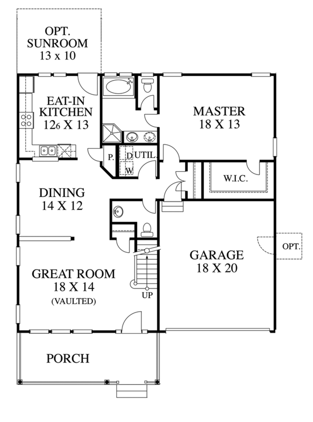 Traditional Style House Plan 3 Beds 2 5 Baths 1799 Sq Ft Plan