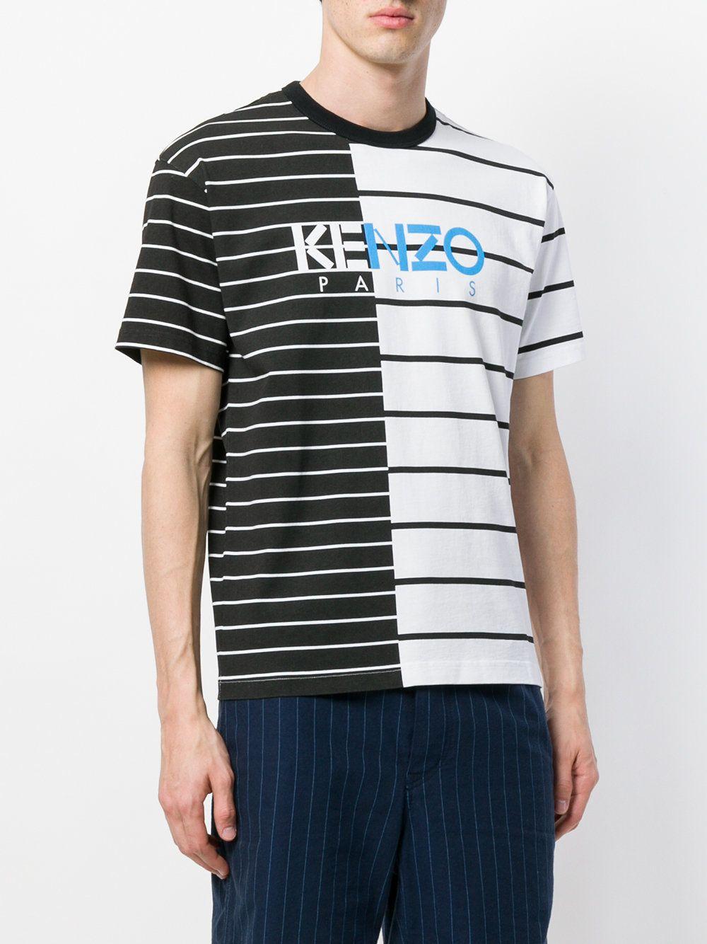 c8862e50 Kenzo striped logo T-shirt | Ss19 menswear in 2019 | T shirt, Kenzo ...