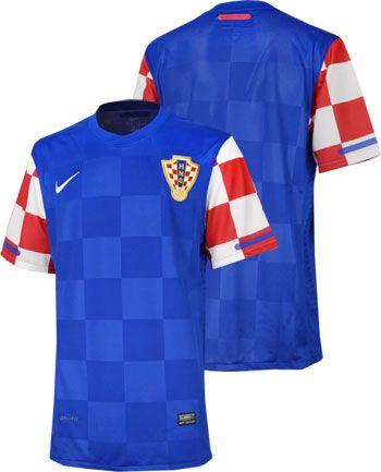 クロアチア代表10/12シーズン 選手用アウェイユニフォーム。 軽量化、通気性アップ、タイトシェイプ、洗濯表示などレプリカとは異なる選手仕様モデル。